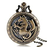 Fullmetal Alchemist - Reloj de bolsillo retro, Fullmetal Alchemist Relojes de bolsillo para hombres, Edward Elric Anime Cosplay Regalos