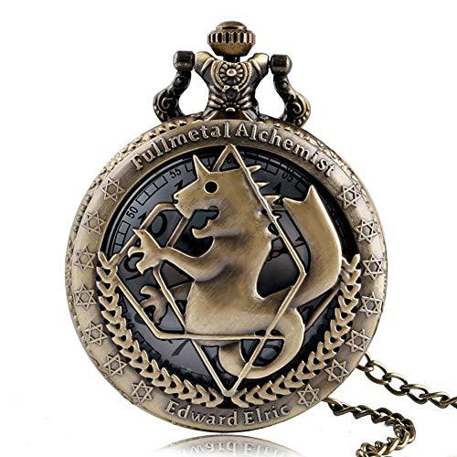Retro Pocket Watch, Fullmetal Alchemist Pocket Watches for Men, Edward Elric Anime Cosplay Gifts