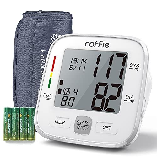 Roffie Tensiómetro de Brazo Digital Monitor Tipo de Banda para Brazo Digital...