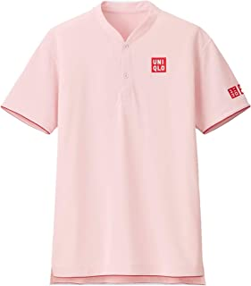 Uniqlo Roger Federer Men RF Dry-EX Polo Tennis Shirt 2018 Shanghai Masters Pink NWT 417789 Authentic Asian Size