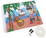 Kersa Piratenflagge/Fahne für Kinder, mit Hiss-System