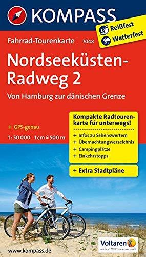 Fahrrad-Tourenkarte Nordseeküstenradweg 2, Von Hamburg/Elbe zur dänischen Grenze: Fahrrad-Tourenkarte. GPS-genau. 1:50000. (KOMPASS-Fahrrad-Tourenkarten, Band 7048)