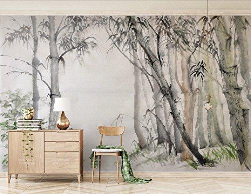 Fototapete 3D Effekt Foto Tapete Elegante Neue Chinesische Nordische Ikea Bambus Wald Tapete 3D Vliestapete Wandbilder Wanddeko