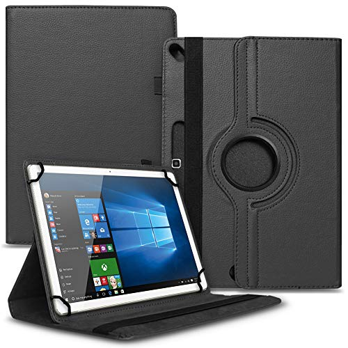 Tasche Hülle kompatibel für Archos 101b Oxygen Tablet Cover Schutz Hülle Schutzhülle 360° Drehbar, Farbe:Schwarz