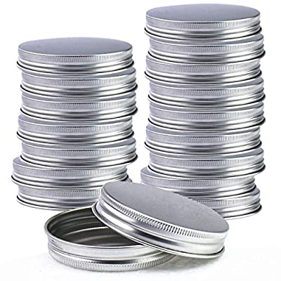25 Pack Stainless Steel Mason Jar Lids,Regular Mouth Canning Jar Lids Leak Proof and Secure (Silver)