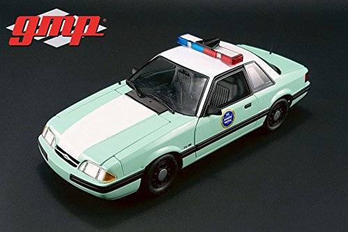 GMP 1:18 UNITED STATES BORDER PATROL - 1988 FORD MUSTANG DIECAST TOY CAR GMP18845