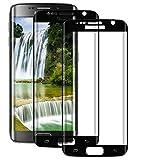 BOBI Protector de Pantalla para Samsung Galaxy S7 Edge, 2 Unidades Cristal Vidrio Templado Completa Cobertura Anti-Rasguños, Antihuellas, Sin Burbujas, Alta Definición
