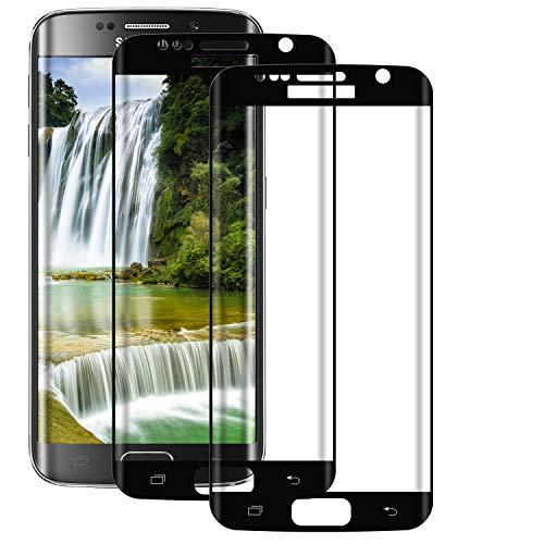 BOBI Pellicola Protettiva per Samsung Galaxy S7 Edge Vetro Temperato Copertura Completa [2 Pezzi], Protezione Schermo HD Trasparente, 9H Durezza, Anti-Impronte, Senza Bolle