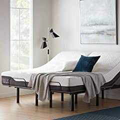 """Your purchase includes One LUCID L150 Adjustable Bed Steel Frame in Twin XL Size, 2020 model Bed base dimensions: 79.5"""" L 37.5"""" W 14"""" H. Head elevation: 0-58ᵒ. Foot elevation: 0-40ᵒ. Supports a maximum weight of 600 lbs. of evenly distributed weight...."""