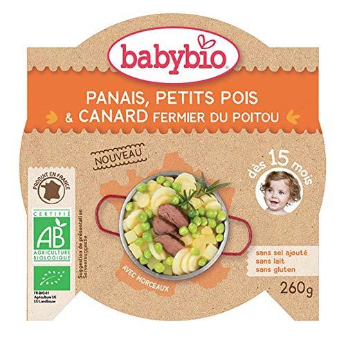 Babybio - Plat Repas Assiette Jour Avec Morceaux Des 15 Mois 260g Babybio - Panais Petits Pois Canard