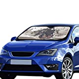 JXCSGBD Car Seat Window Shade Old Steam Locomotive Old Train Foldable Sunshade for Maximum Uv and Sun Protection Keep Your Vehicle Cool 55 X 30inch (140cm X 75cm) Foldable Sunshade for Car