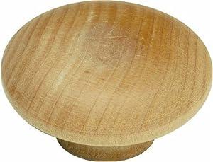 Hickory Hardware P186-UW 2-Inch Natural Woodcraft Knob, Unfinished Wood