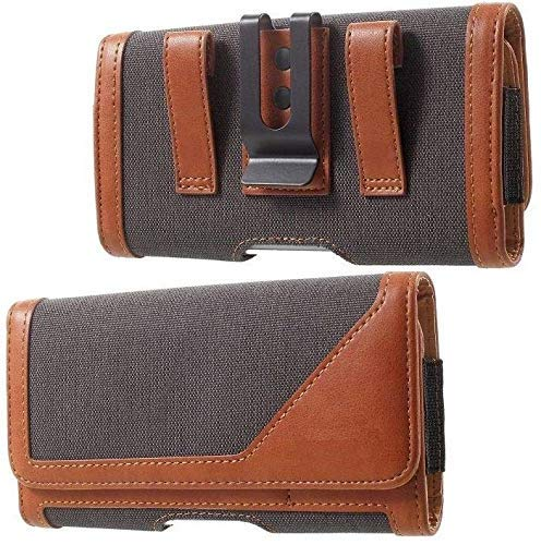 HITFIT Leather Anti Theft Cellphone Belt Loop Holster Magnetic Cover for Redmi Note 10S - Brown