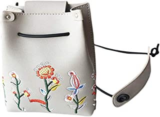 Shoulder Bags, LITTLE TREE-AU Women Vintage Flowers Designer Handbag Shoulder Tote Messenger Bag (Gray)