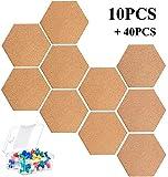 KAHEIGN - Tablero de corcho hexagonal, autoadhesivo,...