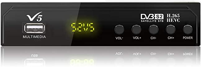Vmade Convertidor Digital Caja T2 et S2 Combo FTA R/écepteur Sectional R/écepteur Complet 1080 P Youtube powervu Biss Key Cccam etc.