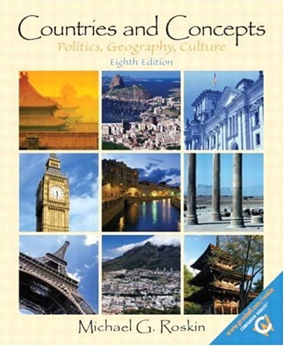 Countries and Concepts Politics Geography and Culture Eighth Edition product image
