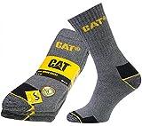 3er Pack CATERPILLAR Real Work Socks Socken Herren Arbeitssocken Strümpfe Grau MIX-CAT-09A, Größenauswahl:41 - 45