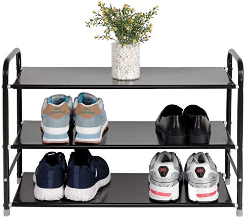 3 Tier 4 Tier Shoe Rack Storage Organizer Free Standing for Closets Shoe Shelf Firm Iron Easy product image