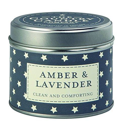 "The Country Candle Company Superstars Kollektion ""Bernstein und Lavendel"" Candle Kerze in Dose, Marineblau"