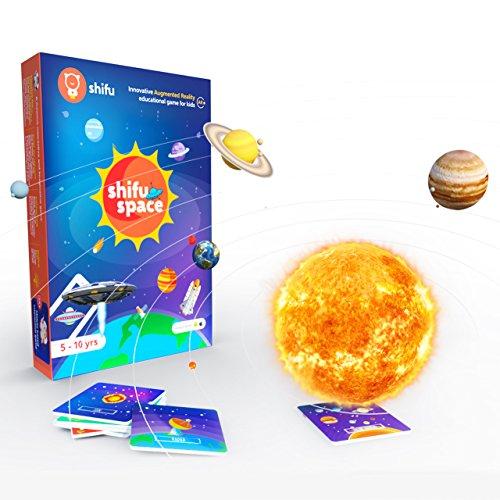 Shifu Space: Gioco educativo 4D, basato sulla Realtà Aumentata, 60 schede di Memoria, Sistema Solare e Spazio Esterno, Giocattolo per Bambini e Bambine dai 5 ai 10 Anni