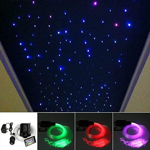 Sternenhimmel mit 220 Lichtfasern LED Fernbedienung weiß oder farbig möglich
