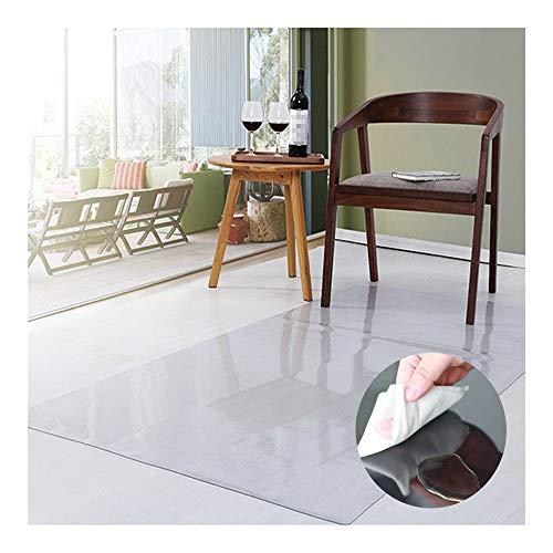 GHHZZQ Transparent Bodenschutzmatte, rutschfest Verschleißfest Kratzfest Transparent Zum Halle Schreibtisch Kaffetisch Bürostuhlunterlage, Anpassbar (Color : 2.0mm, Size : 85x140cm)