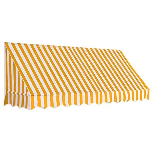 Tidyard Luifel Outdoor Luifel Tuin Gazebo Luifel Zonnescherm 250x120 cm Oranje en Wit