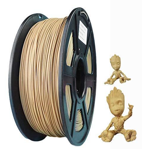 Pla Wood Filament Wood Filament 3D Printer Pla Wood Fill Pla Wood 1.75mm, Rohs Compliance, 1 kg Spool, Dimensional Accuracy +/- 0.03 mm Pla Wood Color