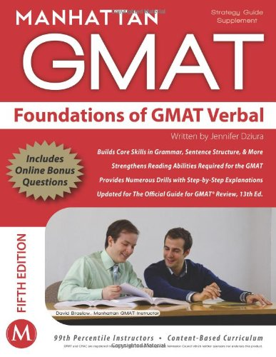 Foundations of GMAT Verbal Strategy Guide