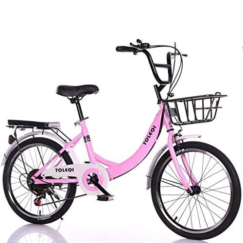 XXY Männer und Falträder Frauen sind leicht und lässig Retro Variable Speed Commuter Bikes geeignet for Outdoor-Reisen (Color : Blue, Size : 20 inch)