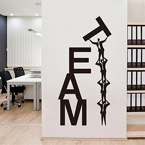 Motivationele muursticker citaten art huisdecoratie vier mensen team kleurrijke Engels brieven stickers voor huis decoratie 19.5x34.13 inches