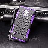 Cocomii Robot Armor Galaxy Note 4 Funda Nuevo [Robusto] Superior Funda Clip para Cinturón Soporte Antichoque Caja [Militar Defensor] Cuerpo Completo Case Carcasa for Samsung Galaxy Note 4 (R.Purple)
