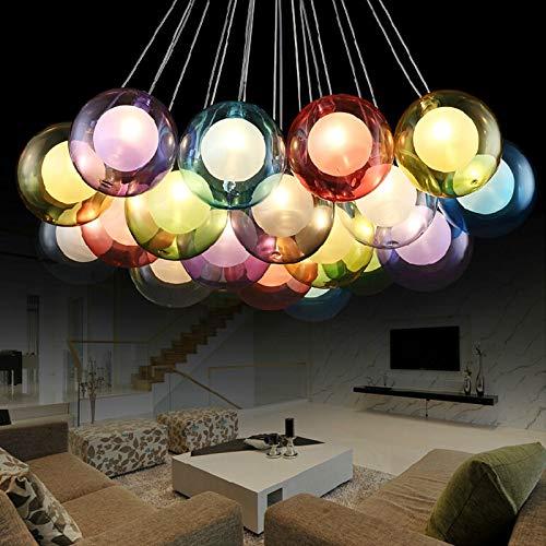5151BuyWorld Moderne lamp om zelf te maken, LED, kleurverandering, kristal, beginnerssiering voor de Lichten Living eetkamer bar December Huis G4 hanglamp Moderne kristallen kroonluchter {7 ballen & 7 balls}