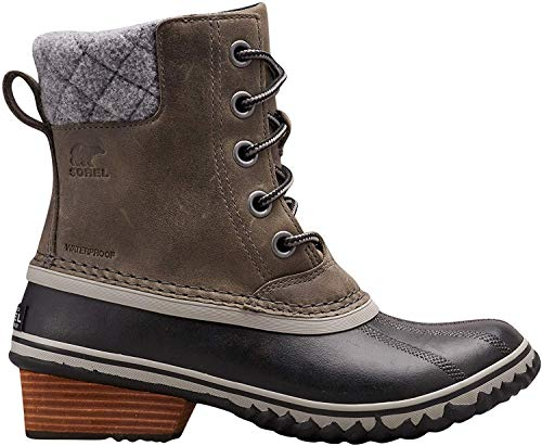 Sorel Women's Slimpack Lace II Snow Boot, Quarry, Black, 7 M US