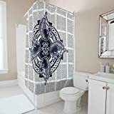 Firelife Wikinger Runen Drache Duschvorhang Anti-Schimmel Wasserdicht Waschbar Polyester Badezimmer Vorhang mit Haken