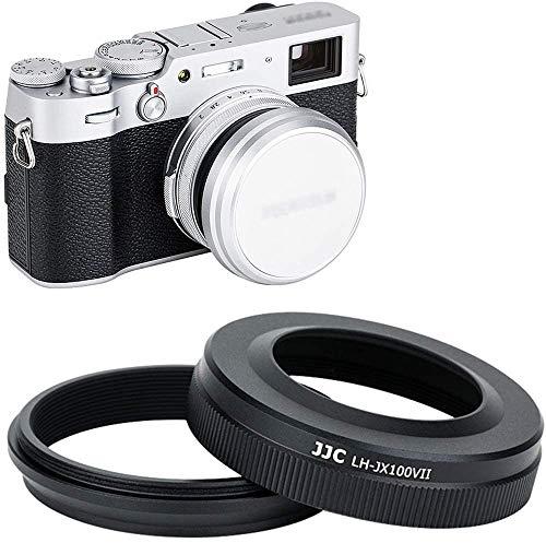 JJC - Paraluce con anello adattatore per fotocamere Fujifilm Fuji X100V X100 X100S X100T X100F, sostituisce paraluce Fujifilm LH-X100 anello adattator