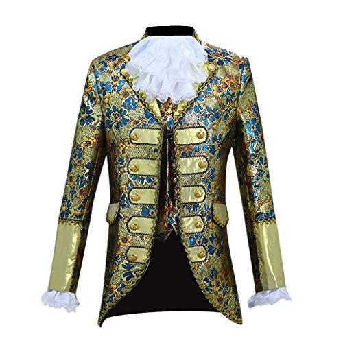 Huacat Herren Mittelalterkleid European Style Court Dress Kostüme Militärkleid Performing Prince's...