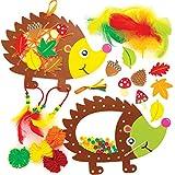 Baker Ross Kits d'attrape-rêves hérissons (Paquet de 4) - Loisirs créatifs pour Enfants