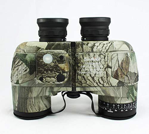 Baibao Militar HD Binoculares, la brújula y los telémetro, 10x50 Objeto Grande de la Lente BAK4 visión Grande, Resistente al Agua ya Prueba de Niebla, con la Correa del arnés y Correa for el Cuello