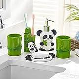 XHAEJ Juego de accesorios de baño, 5 piezas, resina 3D, juego de...