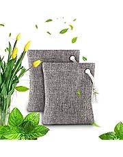 Luchtzuiverende tas - Bamboe Houtskool Luchtzuiverende geurverdrijver Tassen Set voor koelkast Diepvriezers Auto's Kast Schoenen Keukens Kelders Slaapkamers Woonruimtes - Houdt kamers fris, droog en geurvrij