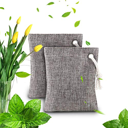 Air Purifying Bag - Bamboo Charcoal Air Purifying Deodorizer Bags 2 Pack...