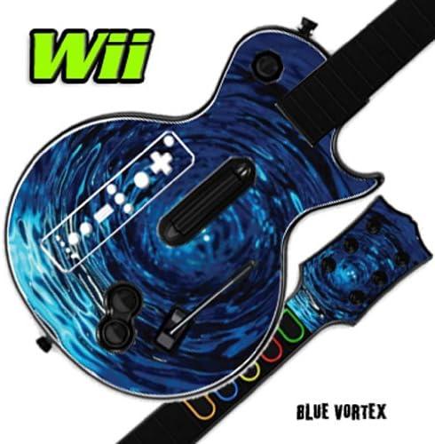 Mightyskins Skin Decal Skin Compatible with Guitar Hero 3 III Nintendo Wii Les Paul - Blue Vortex