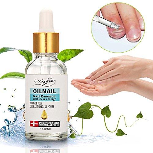 Luckyfine Aceite de uñas reparador para manos y pies, Cuidado y tratamiento de las uñas, Aceite de cutículas para uñas, Con Esencia Herbácea