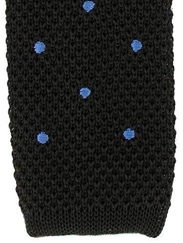 Michelsons of London Brown/bleu de tache de conception cravate de