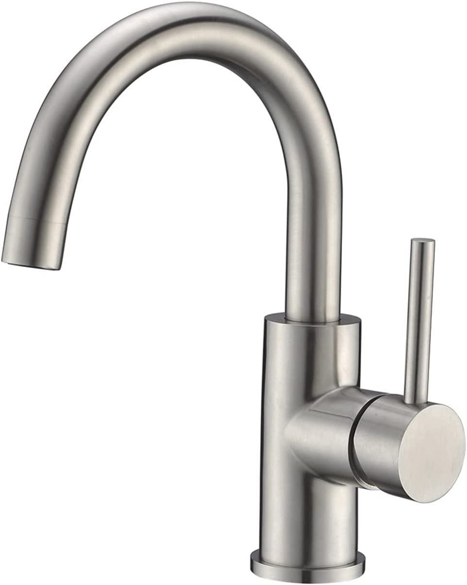 CREA Bar Sink Faucet, Sink Faucet Single Hole for Bathroom Kitchen Small RV  Faucet Brushed Nickel Pre Wet Mini Restroom Bath Utility Marine Outdoor ...