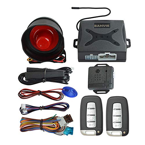 BANVIE PKE Car Security Alarm System with Passive Keyless Entry