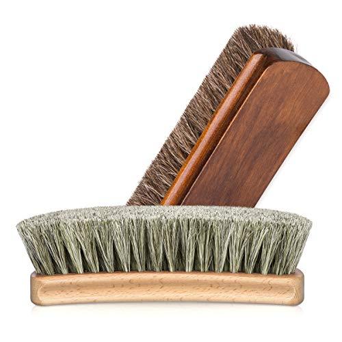 Foloda Foloda Schuhbürste Glanzbürsten Rosshaarbürste Ideal für Reinigen oder Polieren alle Lederschuhe
