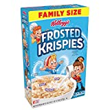 Kellogg's Frosted Krispies, Breakfast Cereal, Family Size, 20.2oz Box(Pack of 6)